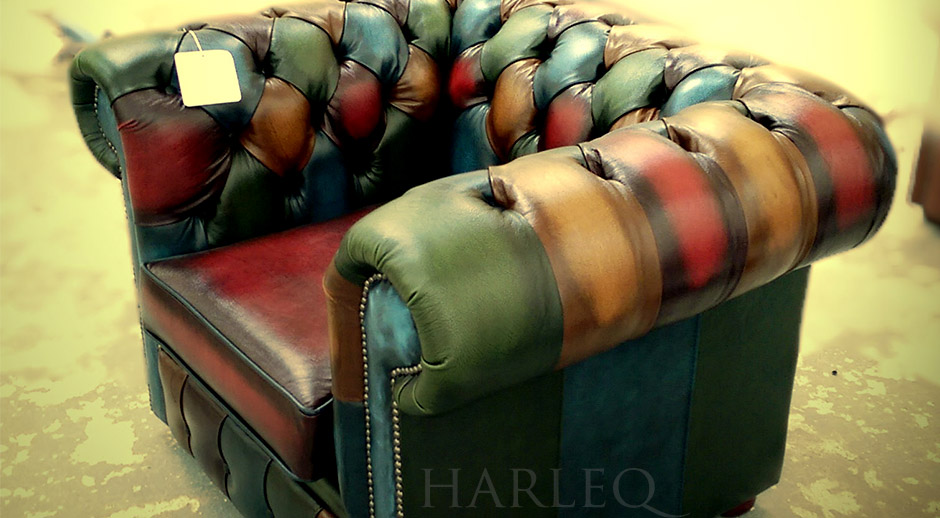 Chesterfield Patchwork Club Chair Harlequin Patchwork Leathers