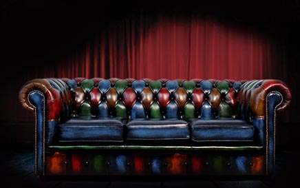 Patchwork Multicoloured Chesterfield Sofa Leather Made In England