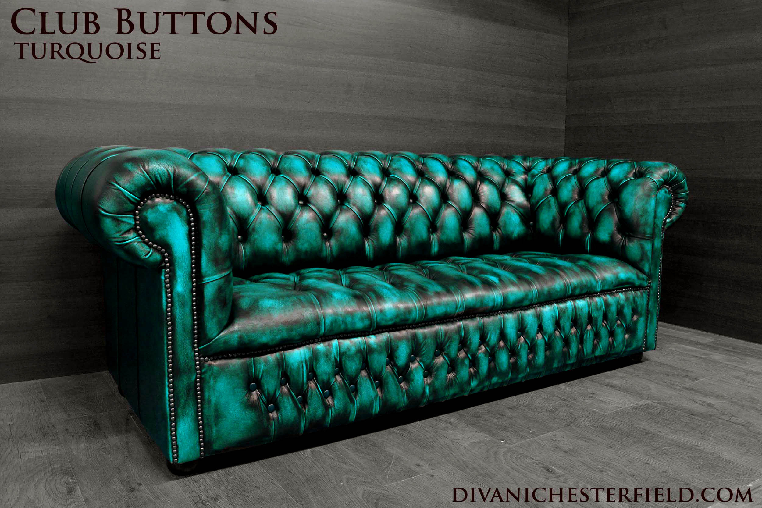 modern chesterfield sofa new leathers yellow turquoise. Black Bedroom Furniture Sets. Home Design Ideas