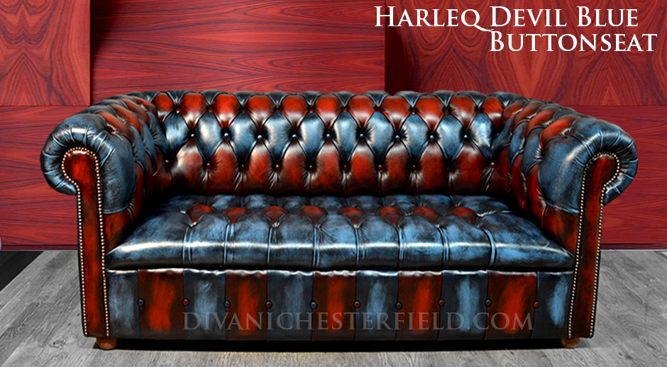 PatchWork Multicolour Chesterfield Sofa Leather Cushion Seat