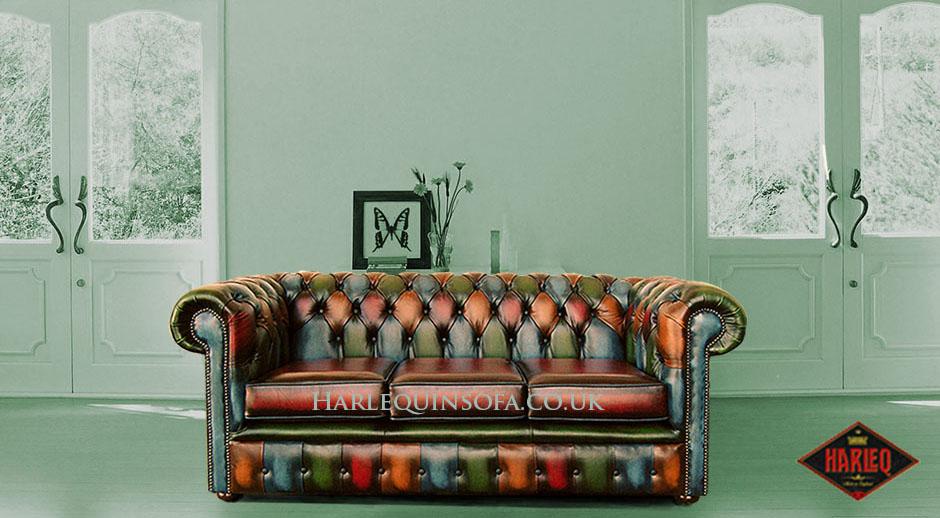 Fabulous Patchwork Multicolour Chesterfield Sofa Leather Cushion Seat Home Interior And Landscaping Sapresignezvosmurscom