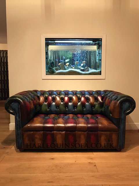 chesterfield sofa patchwork leather