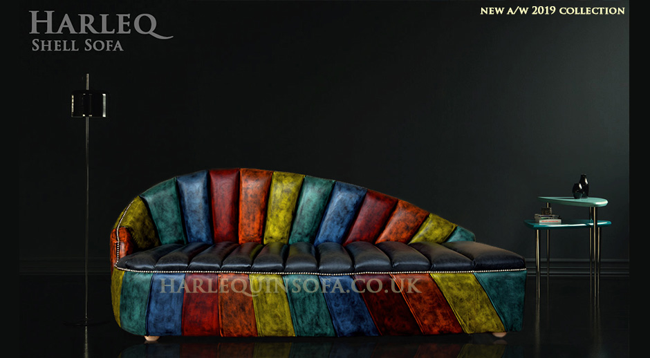 patchwork harlequin sofa