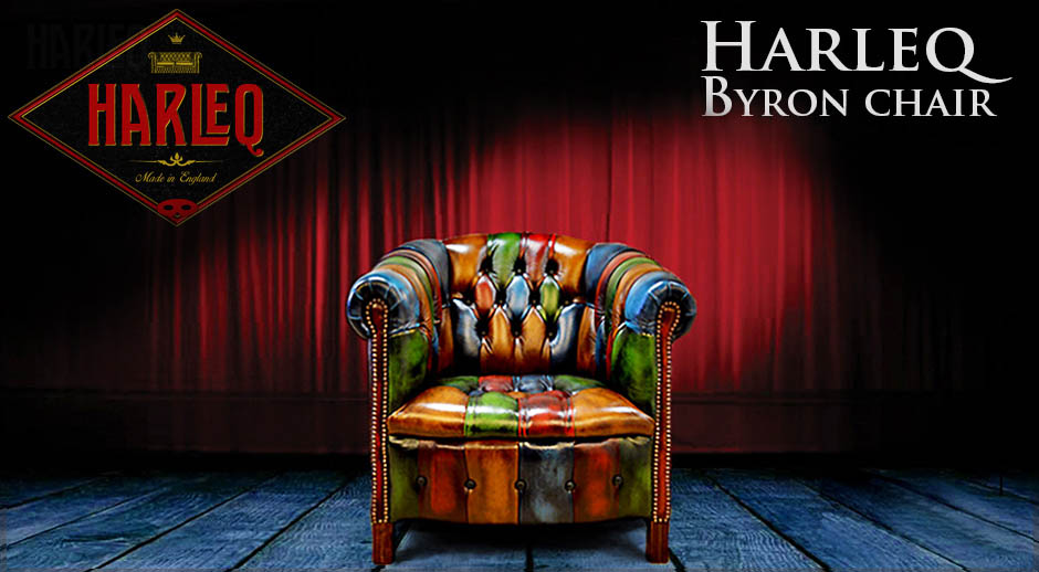 multicoloured patchwork harlequin byron chair