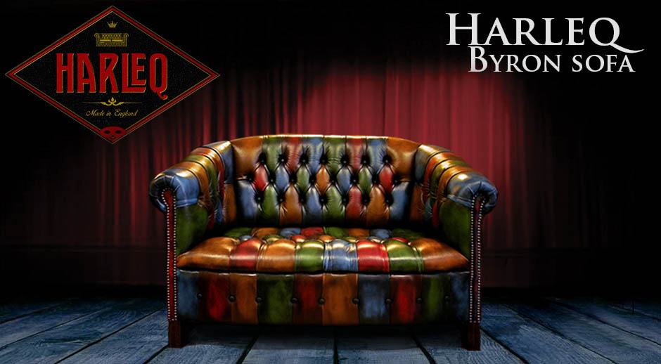Patchwork Chesterfield Harlequin Leather Sofa And Chairs