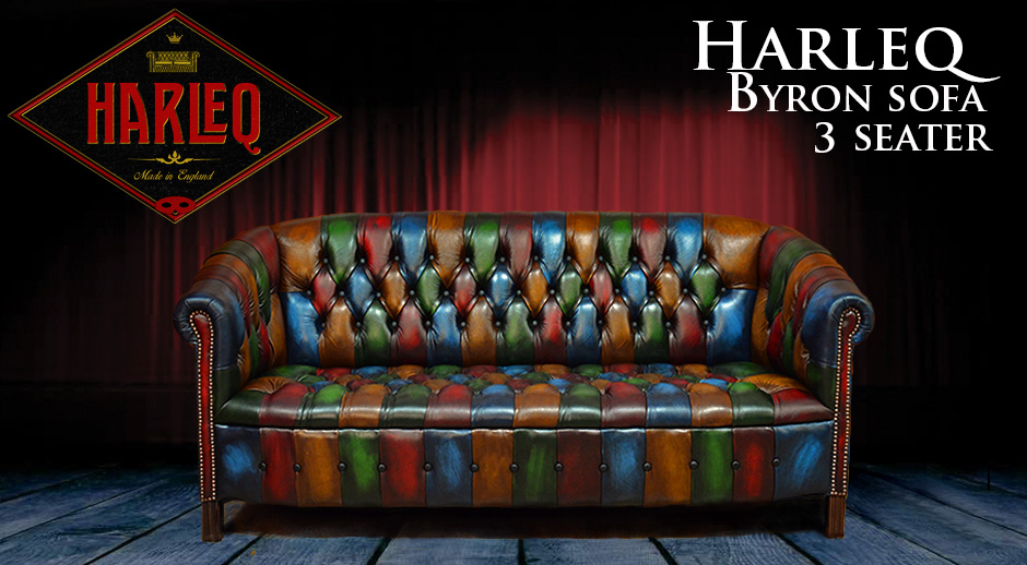 Chesterfield Patchwork Byron Chair Harlequin Patchwork Leather
