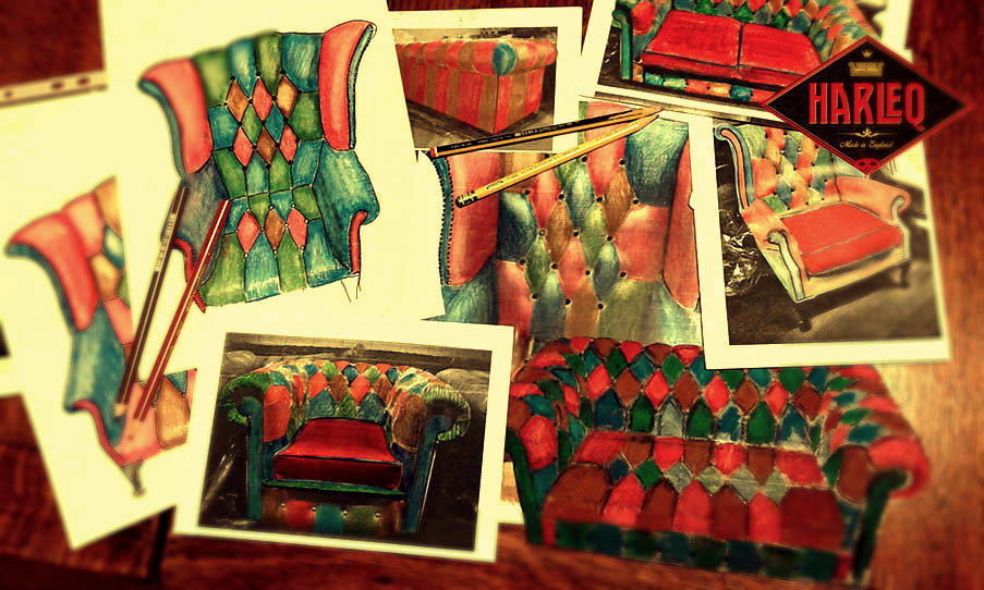 patchwork chairs queen anne cushion harlequin