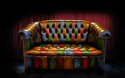 harleq chesterfield patchwork sofa